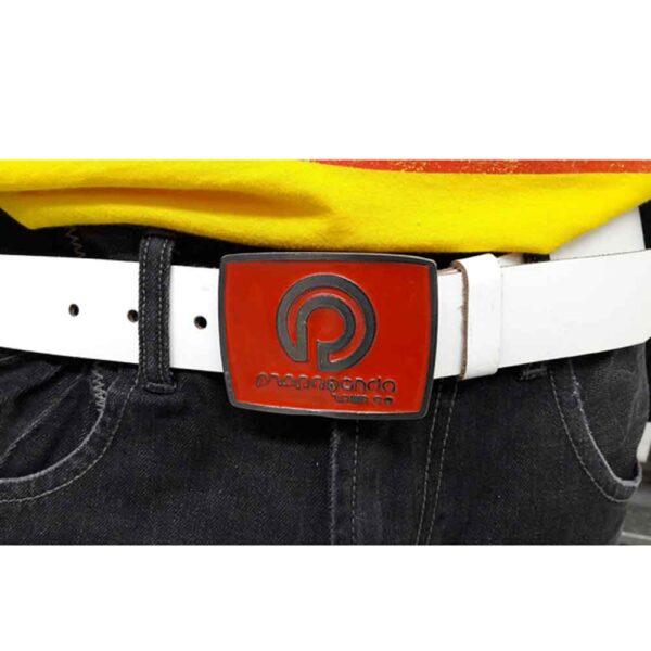 Ζώνη Propaganda Buckle Belt White-Red