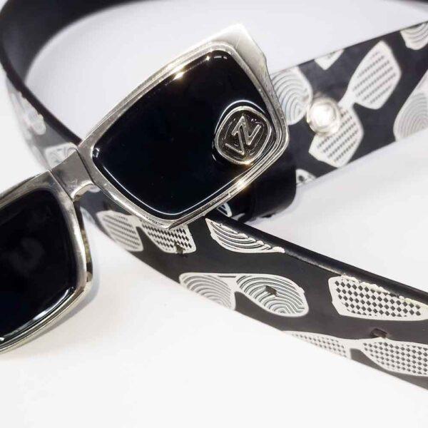 Ζώνη Vonzipper Belt Atnight Black-White