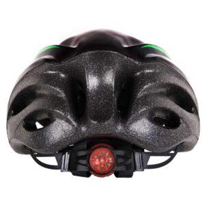 Κράνος ποδηλάτου αυξομειούμενο με φως ΑΘΛΟΠΑΙΔΙΑ μαύρο