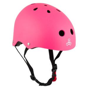 Κράνος Triple Eight Lil 8 Staab Kids Skate Helmet Neon Pink
