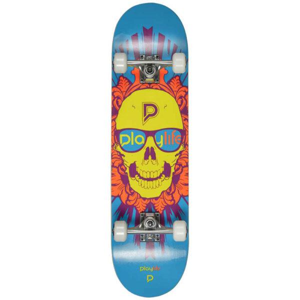 Τροχοσανίδα Playlife Skull Head Illusion Grey Blue 8''
