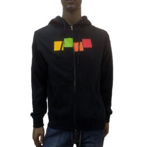 Φούτερ zipper με κουκούλα Foursquare 50910003 Black
