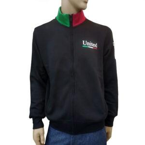 Φούτερ zipper United Cotton MJ7 Black