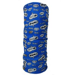 Neckwarmer WOW blue