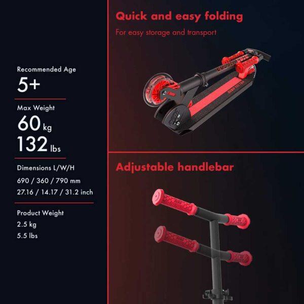 Πατίνι Yvolution Neon Vector Κόκκινο