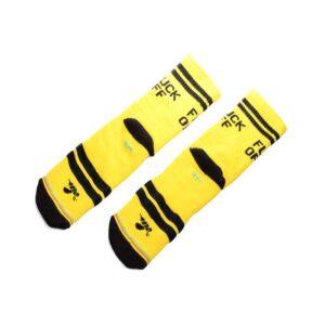 Κάλτσες Bee Unusual Fuck Off 2 Yellow