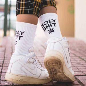 Κάλτσες Bee Unusual Holy Shit 420 Edition White