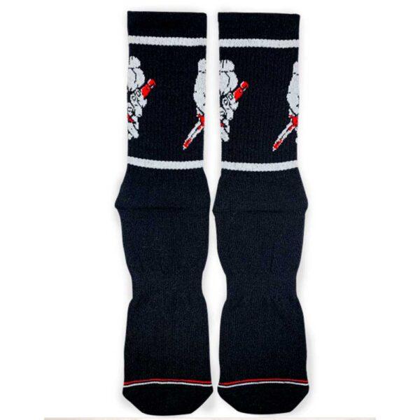 Κάλτσες Bee Unusual Street Sugar Double Crosser Black