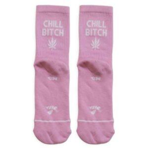 Κάλτσες Bee Unusual Chill Bitch Pink
