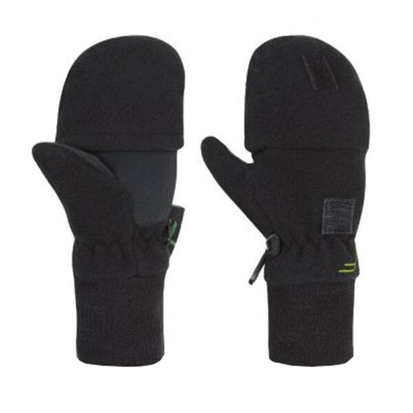 Γάντια Fuse Mittens Flap Fleece Black