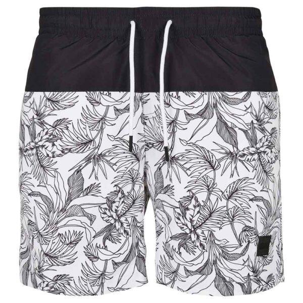 Μαγιό Βερμούδα Urban Classics Low Block Pattern Swim Shorts
