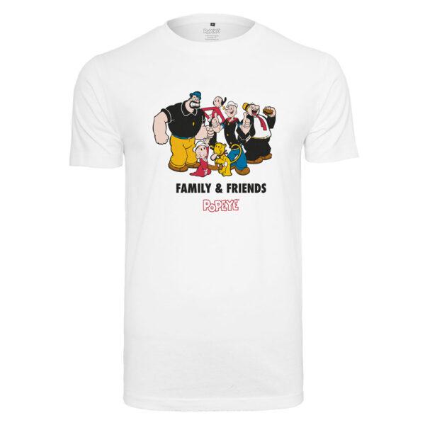 T-Shirt Merchcode Popeye Family & Friends Tee White