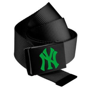 MLB Premium Black Woven Belt Single Kelly Green