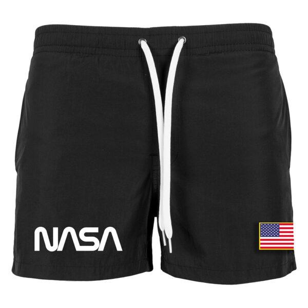 Μαγιό Βερμούδα Mister Tee NASA Worm Logo Swim Shorts