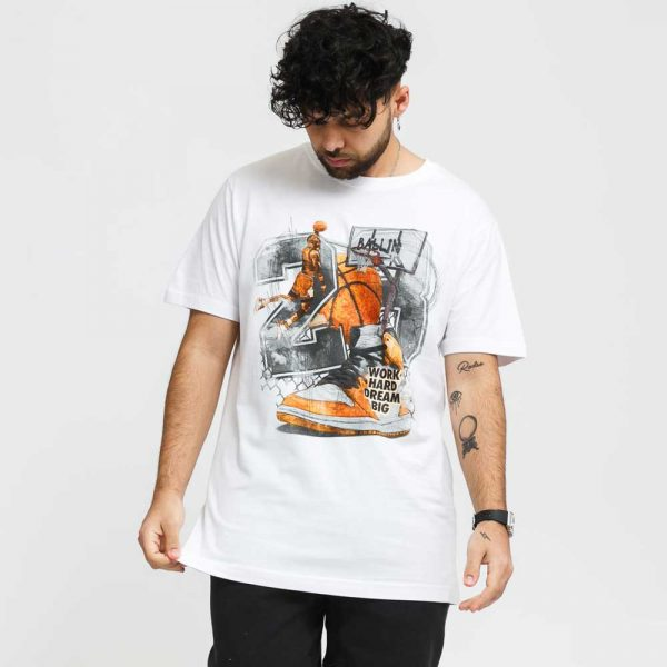 T-Shirt Mister Tee Vintage Ballin Tee White