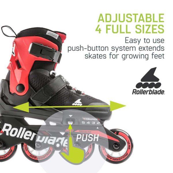 Παιδικά Αυξομειούμενα πατίνια Rollerblade Microblade BlackRed