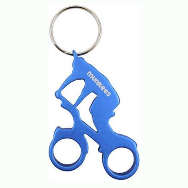 Munkees-Biker-keyring-blue
