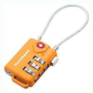 Κλειδαριά Munkees TSA Cable Combination Lock Πορτοκαλί
