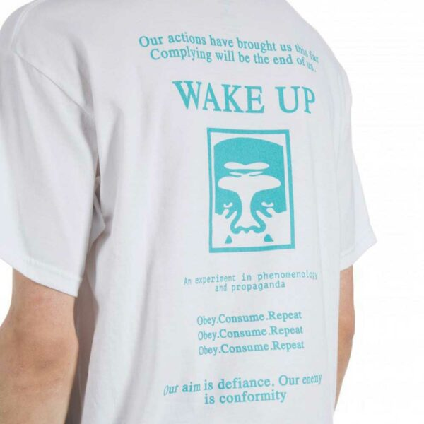 Obey-Wake-Up-White-T-Shirt-back2