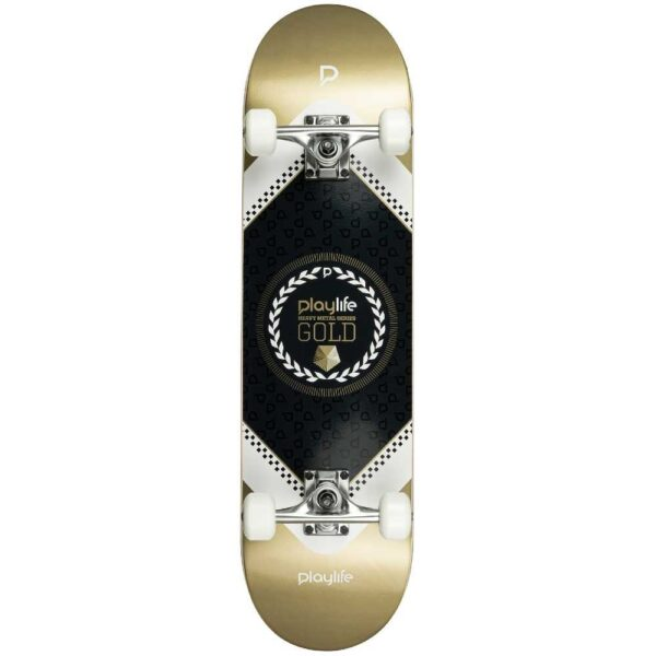 Complete skateboard playlife hardcore gold 31 X 8