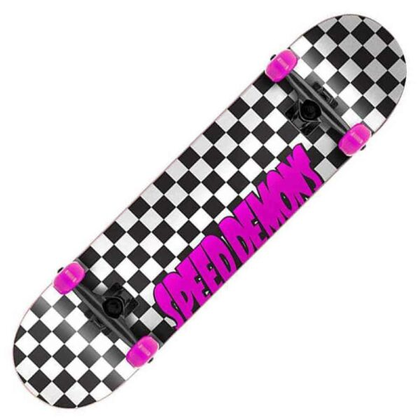Τροχοσανίδα Speed Demons Checkers Complete Black/Pink 7.75''