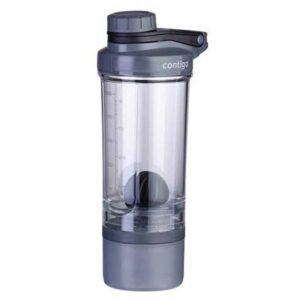ΜΠΟΥΚΑΛΙ ΝΕΡΟΥ CONTIGO SHAKE-GO-FIT-PROTEIN Black 650ml