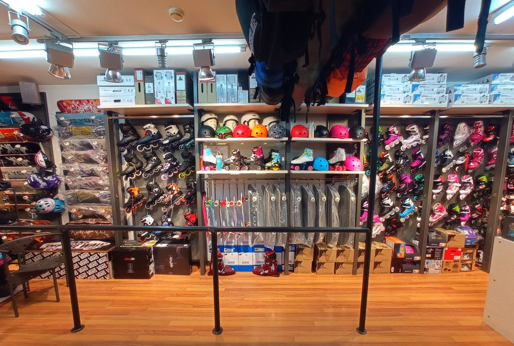 Slalom Shop indoors