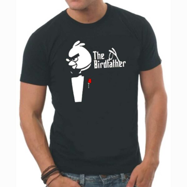 T-Shirt-BirdFather-Black