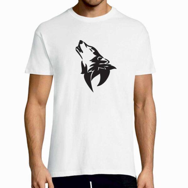 T-Shirt-Hawling-Wolf-White