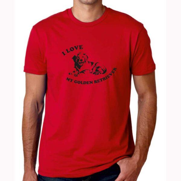 T-Shirt I Love My Golden Red