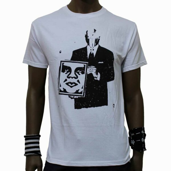 T-Shirt-Obey-Corporate-Violence-White