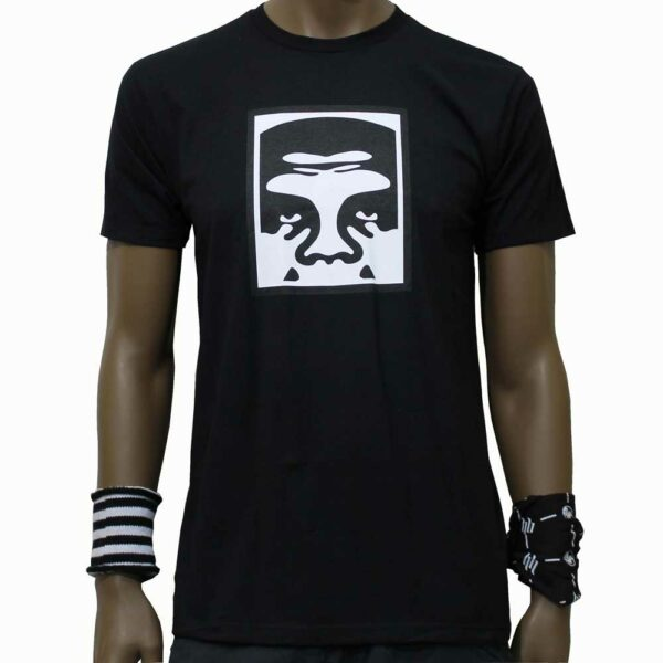 T-Shirt Obey Half Face Icon Black