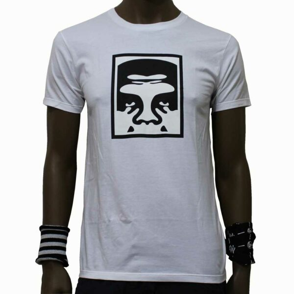 T-Shirt Obey Half Face Icon White