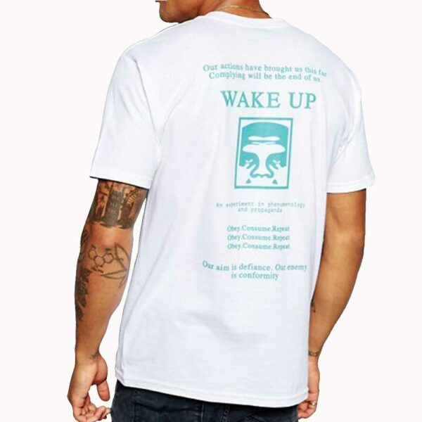 T-Shirt Obey Wake-Up White