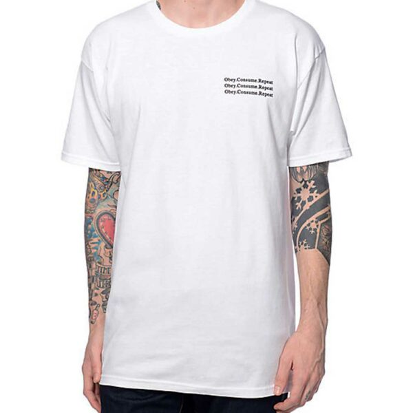 T-Shirt Obey Wake-Up White front