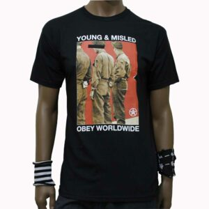 T-Shirt Obey Young and Misled Black