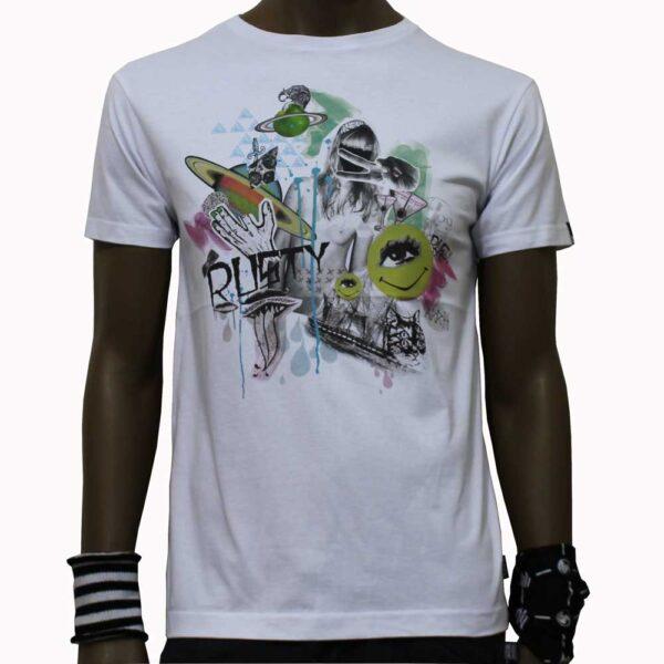 T-Shirt-Rusty-Razortooth-White