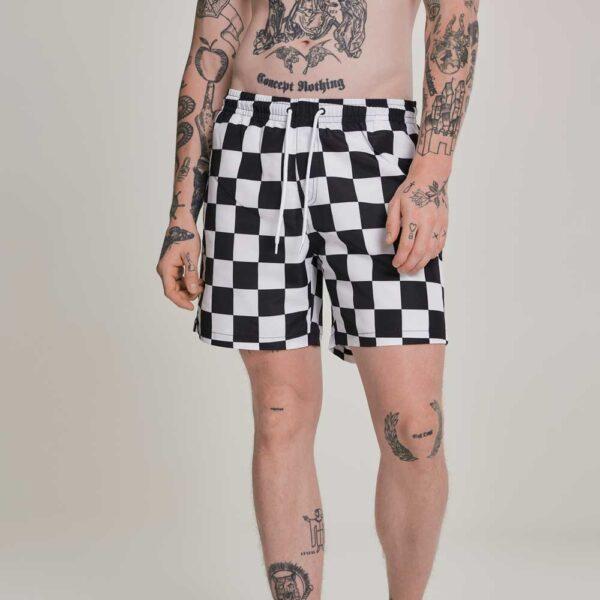 Μαγιό Βερμούδα Urban Classics Check Swim Shorts Chess