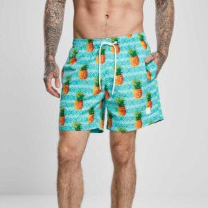 Μαγιό Βερμούδα Urban Classics Pattern Swim Shorts Pineapple