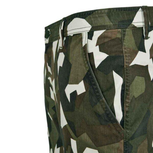 Βερμούδα Urban Classics Geometric Camo Stretch Twill Cargo Shorts TB2902 Wood Camo