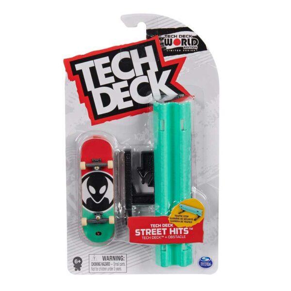 Μινιατούρα τροχοσανίδα Tech Deck με ράμπα Alien