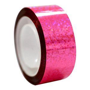 Αυτοκόλλητη ταινία Diamond με μεταλλικό χρώμα, fluo ροζ