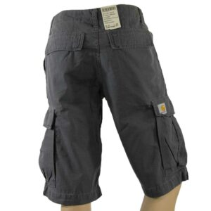 CARHARTT W'S CARGO BERMUDA COLUMBIA BLACKSMITH STONE WASHED