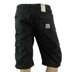 CARHARTT W'S CARGO BERMUDA THRIFT BLACK STONE WASHED