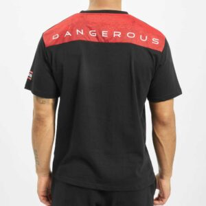 T-SHIRT DANGEROUS TS786 BLACK-RED
