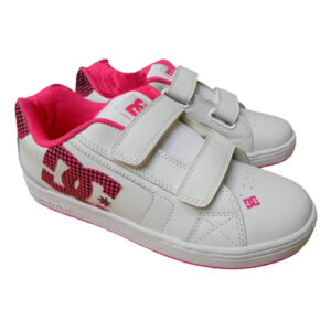 DC SHOES YOUTH'S NET V-SE WHITE/CRAZY PINK