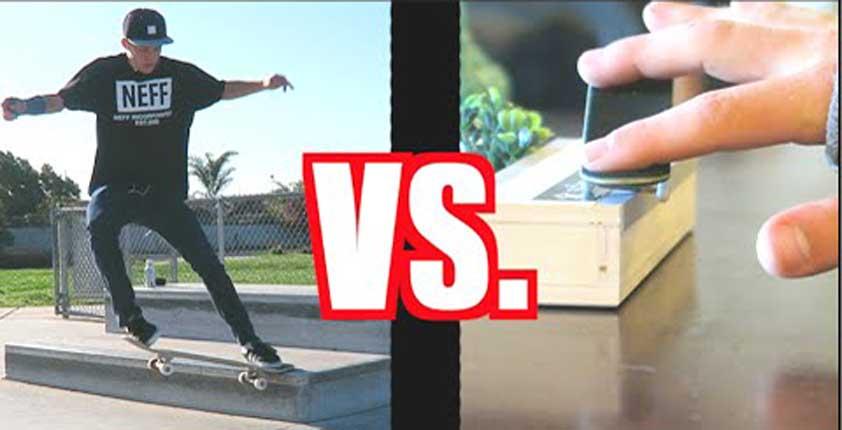 Fingerboarder Vs Skater