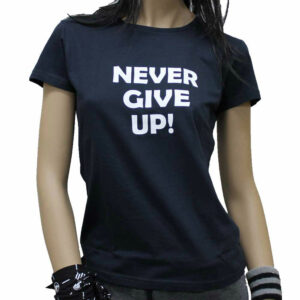 T-SHIRT NEVER GIVE UP DARK BLUE