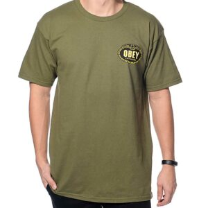 T-SHIRT OBEY IMPERIAL GLORY EAGLE olive