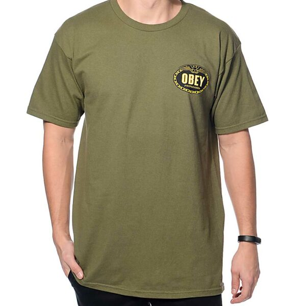 obey-tshirt-imperial-glory-eagle-olive-front